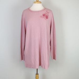 Laura Scott Floral Embellished Sweater Size 20/22W